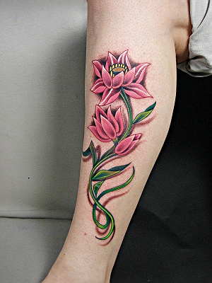 女生小腿纹身大图分享展示图片