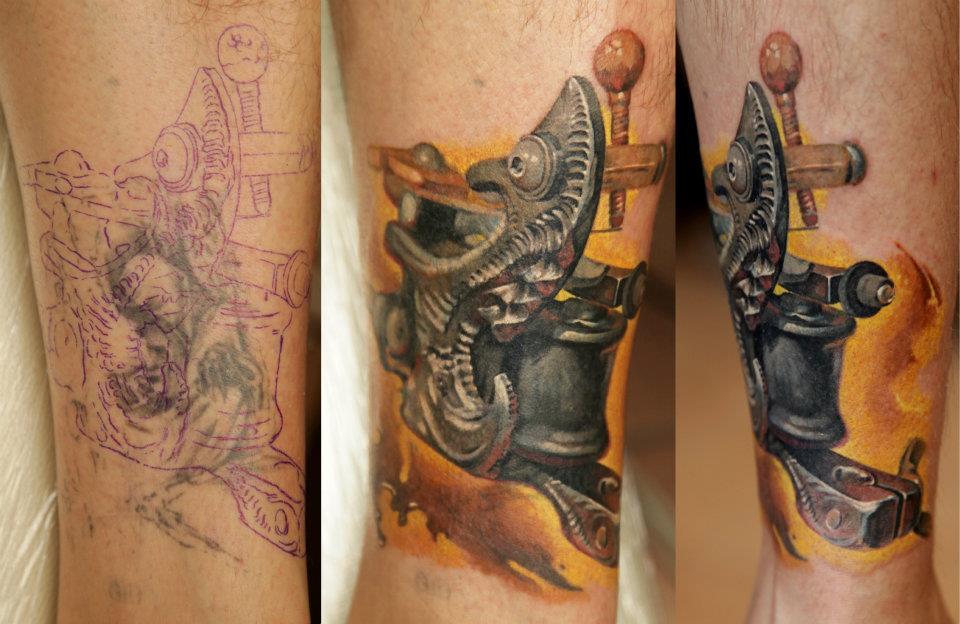 男生小腿纹身机图案_上海纹身 上海纹身店 上海由龙2图片