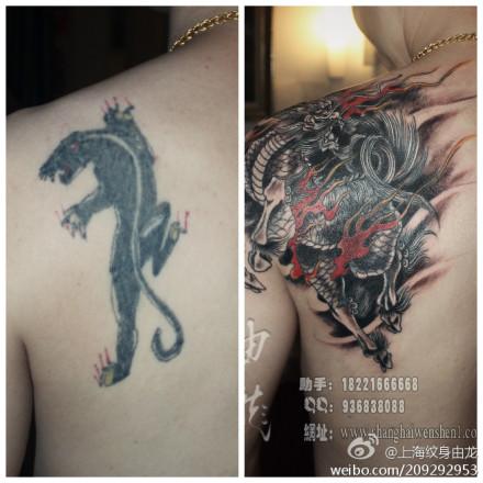 纹身遮盖纹身修改图片