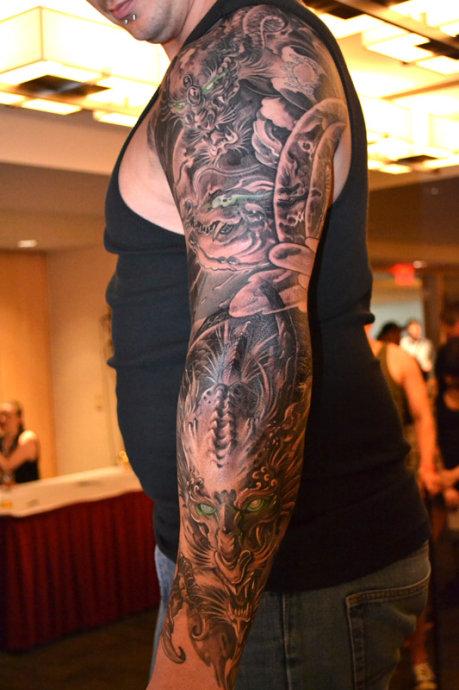 男生包手臂纹身_上海纹身图片